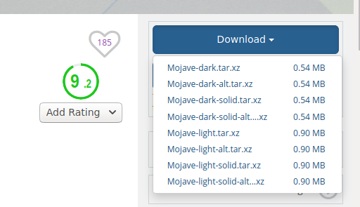 Download McMojave theme package