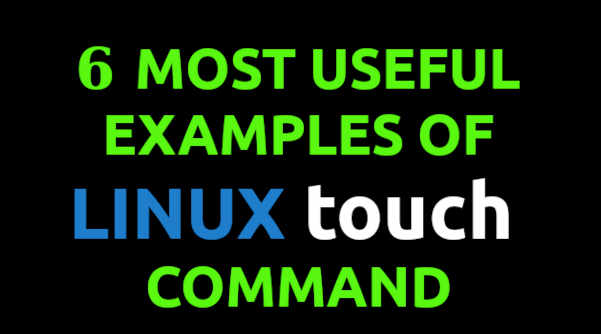 Linux touch command examples