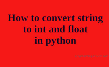 how to convert string to in in python